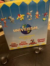 Universal Mini Ornaments Complete Set Of 12 With Rocky And Bullwinkle, Etc.