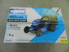 """Kobalt 40V Max Brushless Lithium-Ion 20"""" Deck Width Cordless Mower Kit 0725985"""