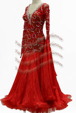 B7636 women Ballroom swing Waltz Tango Rhythm us 6 Dance Dress lace