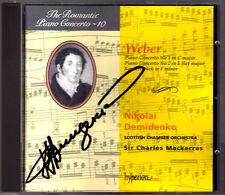 Nikolai DEMIDENKO Signiert WEBER Piano Concerto No.1 & 2 Charles MACKERRAS CD