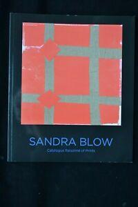SANDRA BLOW: CATALOGUE RAISONNE OF PRINTS JOHN BASFORD 2015 ST IVES