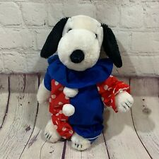 Vintage 1968 United Feature Syndicate Snoopy Dog Plush Clown Clothes Korea