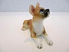 Vtg Miniature Pug Boxer Puggle French Bull Dog Porcelain Figurine Statue Lying