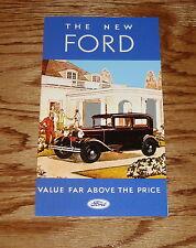 1931 Ford Model A Foldout Sales Brochure 31 Coupe Roadster Phaeton Sedan