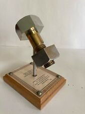 Metal Bolt Nut Clock Industrial Machining Steampunk Wood Base Art Desk Decor