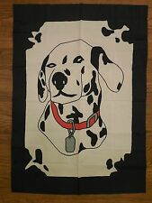 House flag Dalmatian Dog Breed, Fire fighter's dog sewn / applique House flag