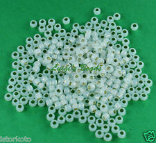 8/0 Round TOHO Japan Glass Seed Beads # 2100-Silver-Lined Milky White 15 grams