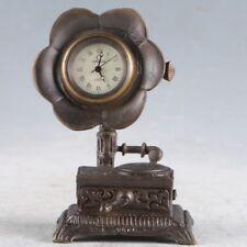 European Exquisite Brass Classical Mechanical Flower Clock a6031