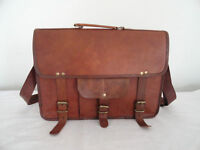 Bag Leather Real Laptop Messenger Satchel Cross body Briefcase S Vintage Brown