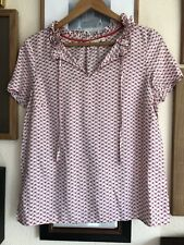 Boden Pink Silk Mix Top, UK 12