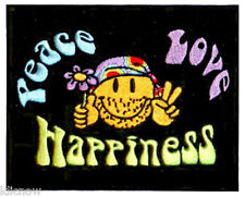"""PEACE / LOVE / HAPPINESS  EMBROIDERED PATCH 13CM X 10CM(5"""" X 4"""")"""