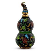 A Vintage Chinese Enamel Snuff Bottle Floral Pattern Gourd Design