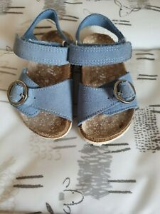 NEXT Girls Pretty Blue Summer Footbed Sandals Size Infant 4