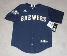 MILWAUKEE BREWERS Adidas Jersey sz Youth M (10-12) MLB Licensed NEW