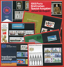 1968 - 1969 Set of 10 German Presentation Packs