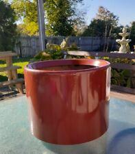 "Mid Century Modern ORANGE FIBERGLASS PLANTER by Peter Pepper Products 12"" CANADA"