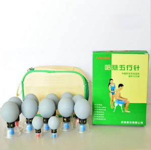 Cupping Set 12 Pcs Magnetic Suction Cups Acupressure Therapy Moxibustion Care