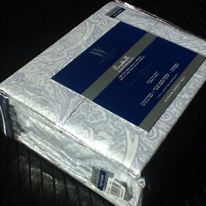 Brand New BLUE GRAY PAISLEY Wamsutta 625 TC 100% Pimacott Cotton QUEEN Sheet Set