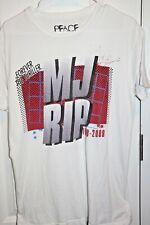 Peace Generation Graphic T-shirt-Michael Jackson-Adult Size L-White