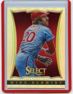 """2013 PANINI SELECT #103 MIKE SCHMIDT """"SILVER PRIZM REFRACTOR"""", PHILLIES, 081420"""