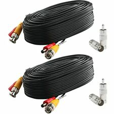 Bnc Video Power Cable (2 Pack 25 Feet) Pre-Made All-in-One Security Camera Wire