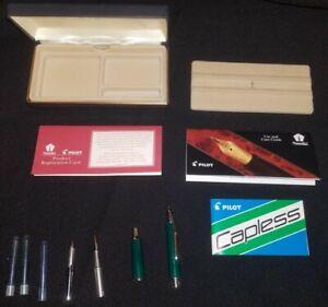 Namiki Pilot Vanishing Point Pen With Medium 14k 585 Nib With Box And Refills