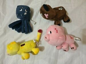 Mojang Minecraft plush Teddy Bundle pig cow lion squid (14)