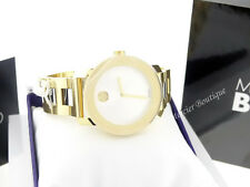 Movado Midsize BOLD Yellow Gold Ion-plated & Steel Quartz Watch 3600129