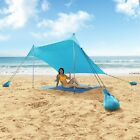Beach Shade Sun Protection Beach Tents Portable UPF50+ UV Lycra Fabric Canopy