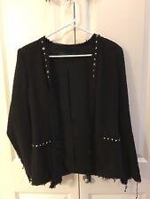 Pre Owned: Zara Black Blazer With Spikes , Size S