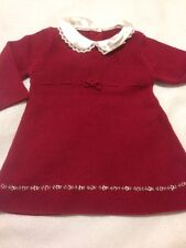 EUC Gymboree 6-12 Months, Girls Red Embroidered Floral Swater Dress