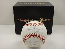 MIKE SCHMIDT SIGNED STATBALL STAT BASEBALL W/ 16 INSCRIPTIONS AUTOGRAPHED RJ.COM