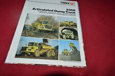 Terex 2366 Articulated Dump Truck Dealers Brochure RPMD