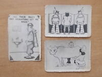 JOB LOT OF 3 VINTAGE SAUCY CHEEKY POSTCARDS WITH MILITARY SAILOR INFLUENCE LOT 1