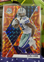 2020 Panini Mosaic CeeDee Lamb RC (#207) Reactive Orange Prizm - Dallas Cowboys!
