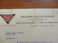 Vintage movie letterhead Western Film Exchange Palace held two reels 5/18/1910