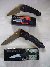 Cats Eye and Dragoon I knife Frost Cutlery folding pocket knives NIB