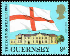 Scott # 279 - 1984 - ' Flag of Guernsey & Royal Court '