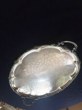 Large Silver Antique Imperial Polish Fracet. Warszawa Galw Serving Tray
