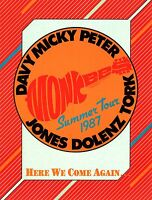 THE MONKEES 1987 HERE WE COME AGAIN TOUR CONCERT PROGRAM BOOK BOOKLET / NM 2 MNT