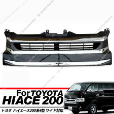 1880 Wide-body Chrome Front Grille j For Toyota Hiace 200 Series 4 Type 2014-17
