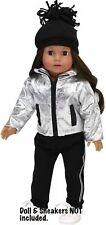 """Metallic Jacket, Jogging Pants, Knit Hat 18"""" Doll Clothes Fit American Girl Doll"""