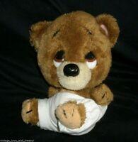 "8"" VINTAGE APPLAUSE KNICKERBOCKER BURLEY JR TEDDY BEAR STUFFED ANIMAL PLUSH TOY"