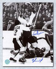 Paul Henderson & Vlad Tretiak Dual Signed 1972 Summit Series Goal 8x10 Photo