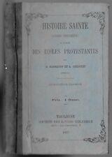 HISTOIRE SAINTE Ancien testament par D. BONNEFON & A. DECOPPET Protestant 1877