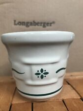 Longaberger heritage green Pottery votive holder/toothpick Holder