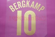 Bergkamp #10 2005-2006 Arsenal CL Homekit Nameset Printing