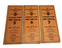 Vintage Lot  of 3 Santa Fe Railway Albuquerque Division Time Tables 5 6 7 1979