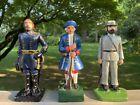 """Vintage Cast Iron Soldiers Minute Man Union Confederate Civil War Revolution 7"""""""