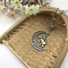 Horse and Moon Necklace Horse Pendant Crescent Moon Pagan Necklace Wiccan